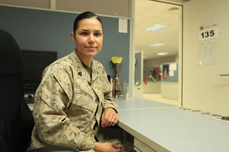 Sergeant Rosa M. Quintero, administrative specialist with I Marine Expeditionary Force Headquarters Group (Forward), was surprised Christmas day aboard Camp Leatherneck, Afghanistan, with a phone call from President Barack Obama. The Mexico-born, Texas-raised Marine has worked hard her entire life, overcoming all obstacles in her way to persevere and excel ahead of her peers.