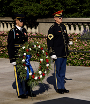 Wreath donated by Lavonna Strieght and Military Family Network. Photo by April Streight,  Military Family Network. Used By Permission