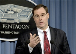 David Sedney, deputy assistant secretary of defense for East Asia, announces the release to Congress of the 2008 Defense Department Report on the Military Power of the People's Republic of China, during a March 3, 2008, Pentagon news conference. Photo by R.D. Ward